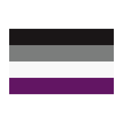 Asexual Pride Flag on Transparent Background