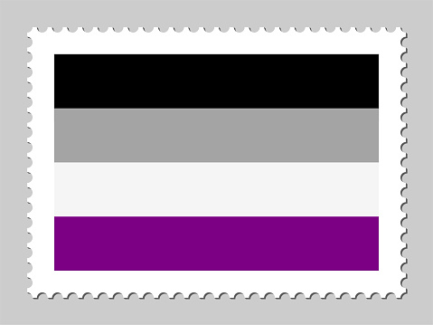 Asexual pride flag postage stamp