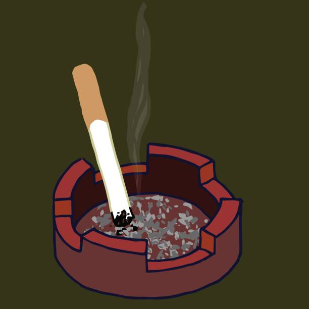 Ash Tray vector art illustration