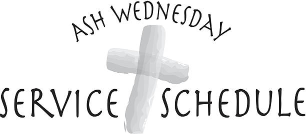 ash wednesday heading - ash wednesday stock illustrations, clip art, cartoons, & icons