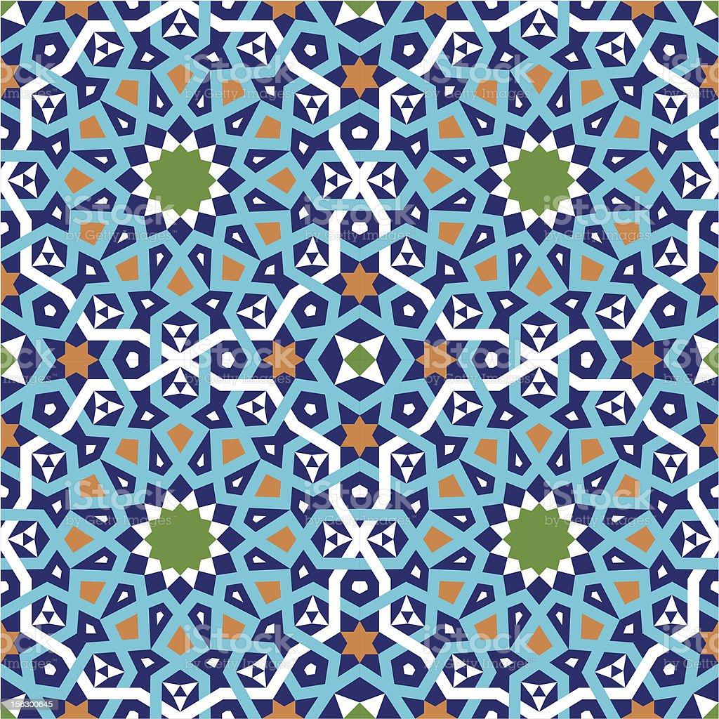 Ashkezar Seamless Pattern Two royalty-free stock vector art