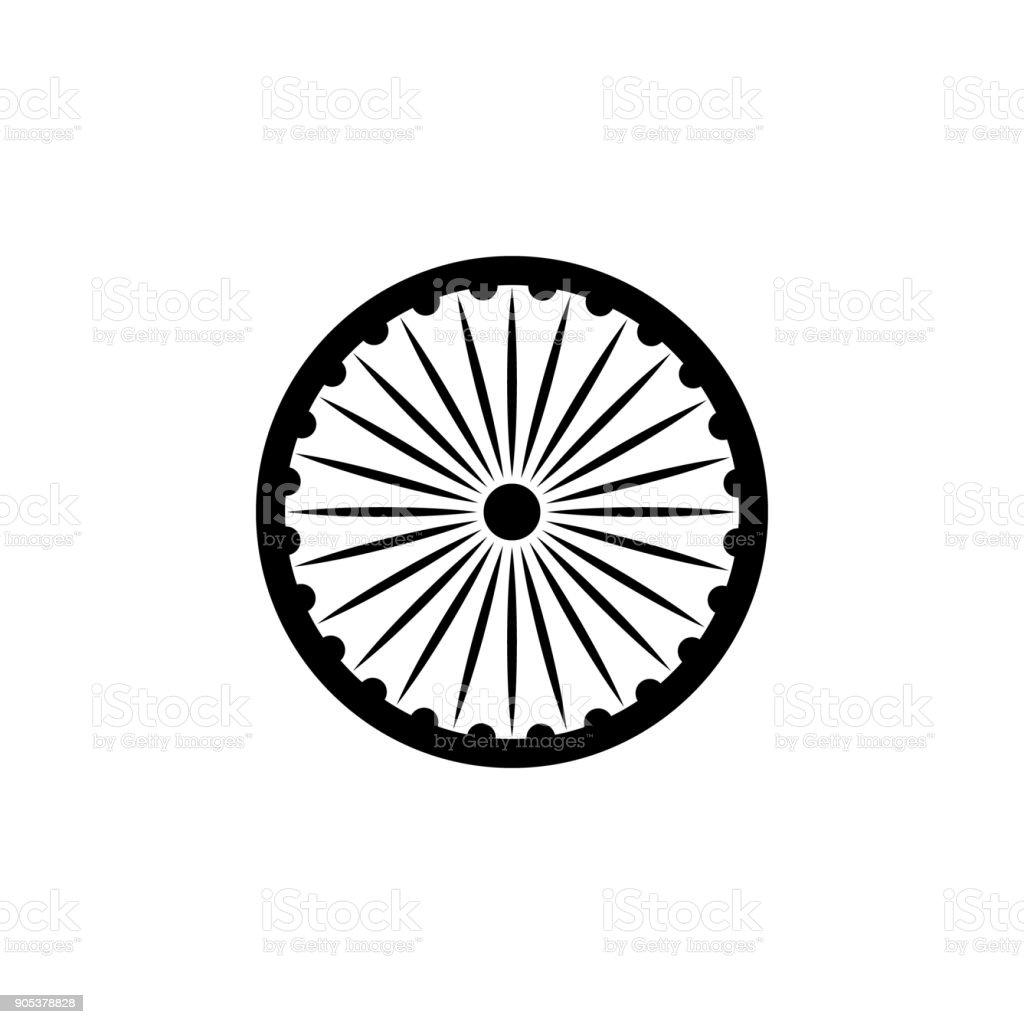 Ashoka Chakra Icon Elements Of Indian Culture Icon Premium Quality