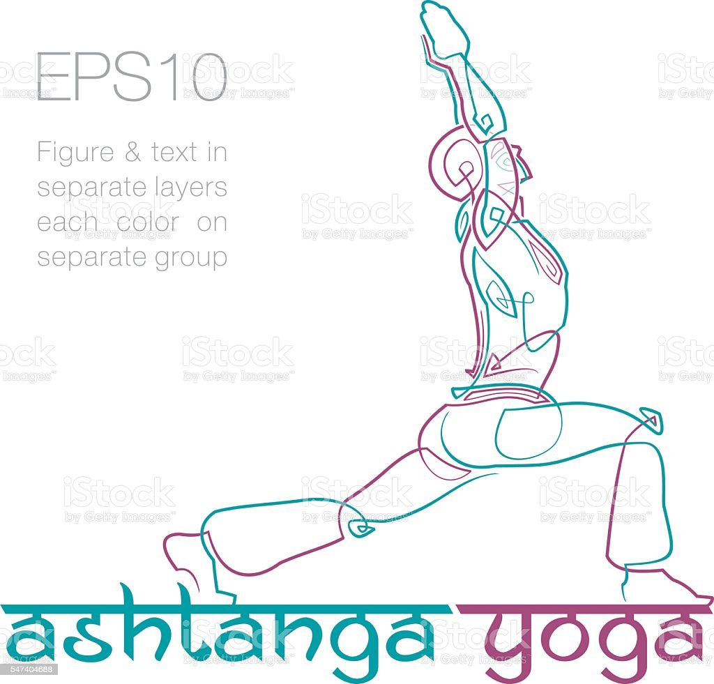 Ashtanga Yoga Logo 2 ilustración de ashtanga yoga logo 2 y más banco de  imágenes de 29f63911cac3d