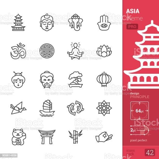 Asia Cultuur Overzicht Pictogrammen Pro Pack Stockvectorkunst en meer beelden van Autoriteit