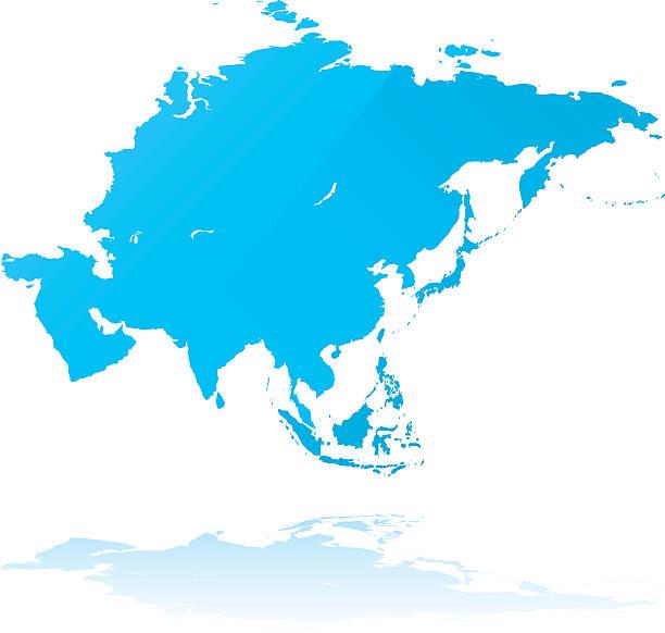 アジアの詳細マップグランジスタイル - アジア地図点のイラスト素材/クリップアート素材/マンガ素材/アイコン素材