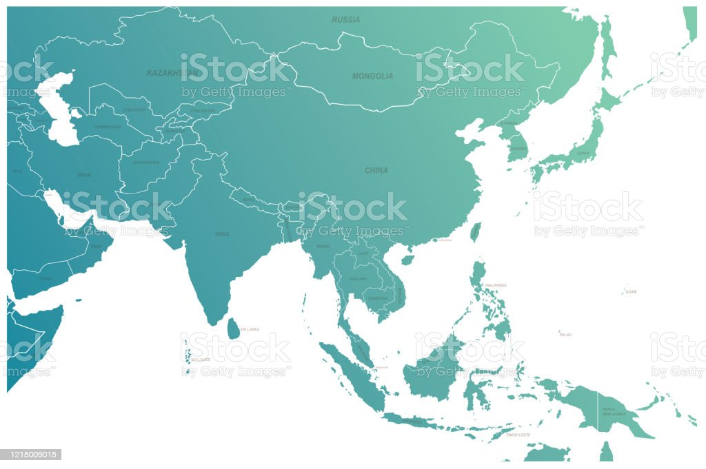Picture of: Asia Map Asian Countries Vector Map Eurasia And Oceania Countries Map Stock Illustration Download Image Now Istock