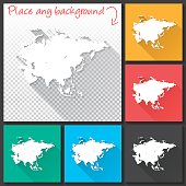 Map of Asia for design. With space for your text and your background.