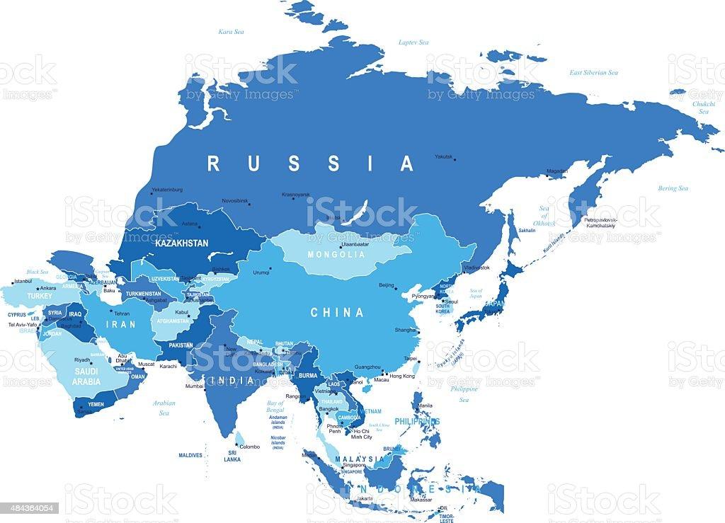 Asia - map - illustration