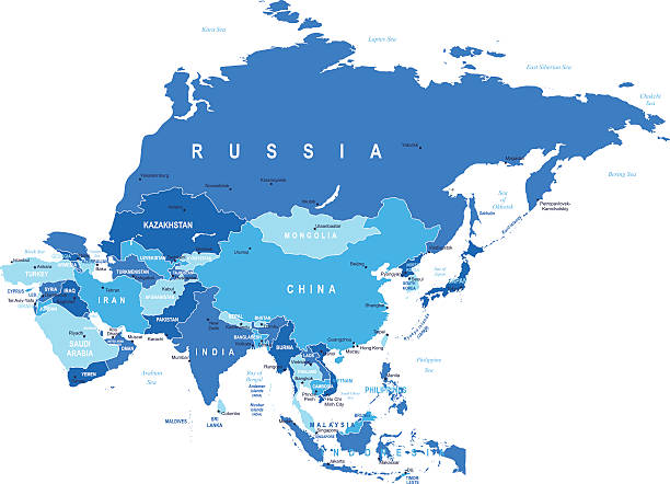 Asie-plan-illustration - Illustration vectorielle