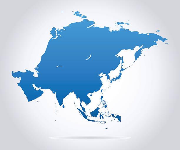 asia map - illustration - アジア地図点のイラスト素材/クリップアート素材/マンガ素材/アイコン素材