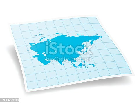 Asia Map isolated on white Background