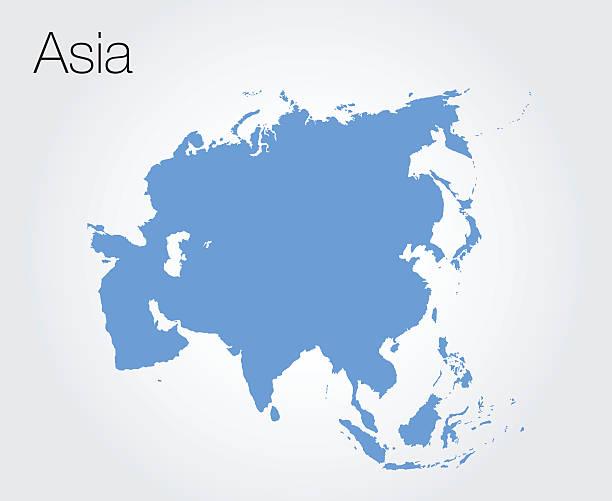 Carte vectorielle de l'Asie - Illustration vectorielle