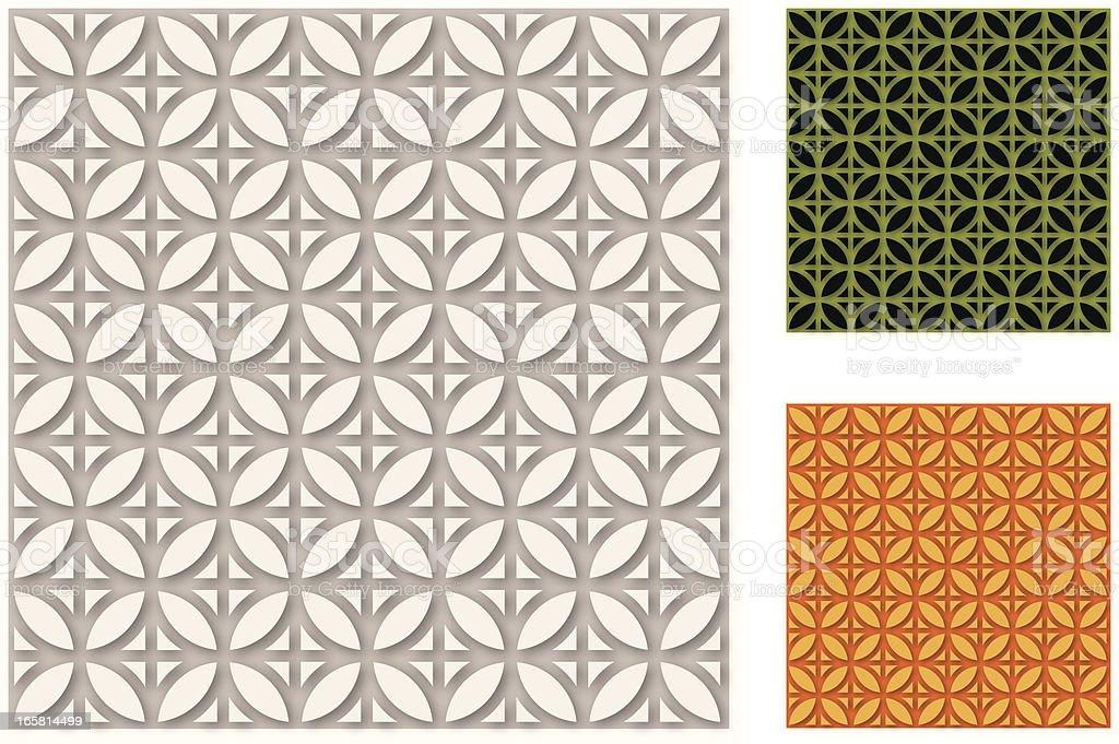 Asia style of Pattern vector art illustration