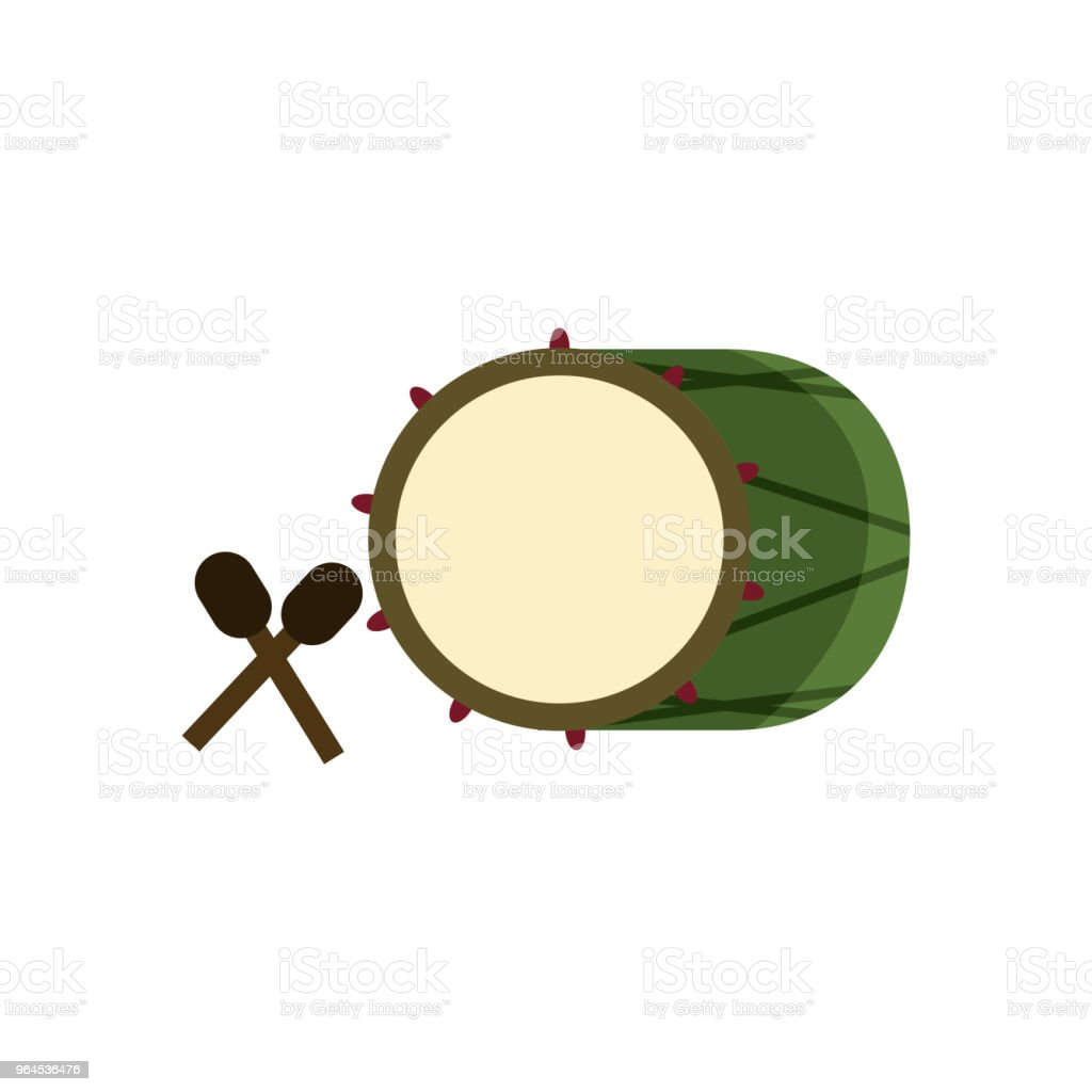 Asian Bedug Islamic Illustration Design vector art illustration