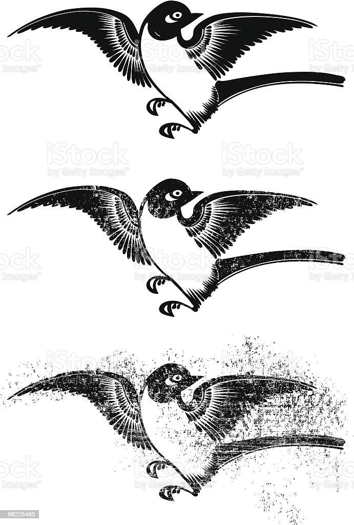 Uccello asiatica uccello asiatica - immagini vettoriali stock e altre immagini di bianco e nero royalty-free