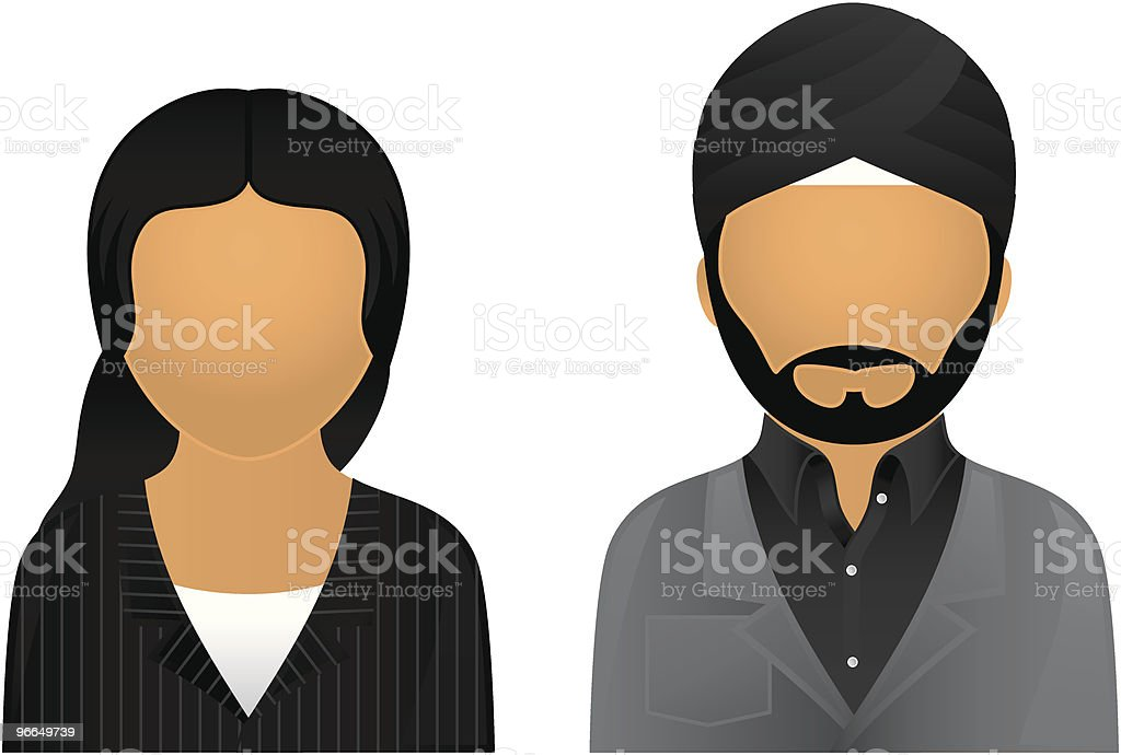 Asian Business & Office Avatars royalty-free stock vector art