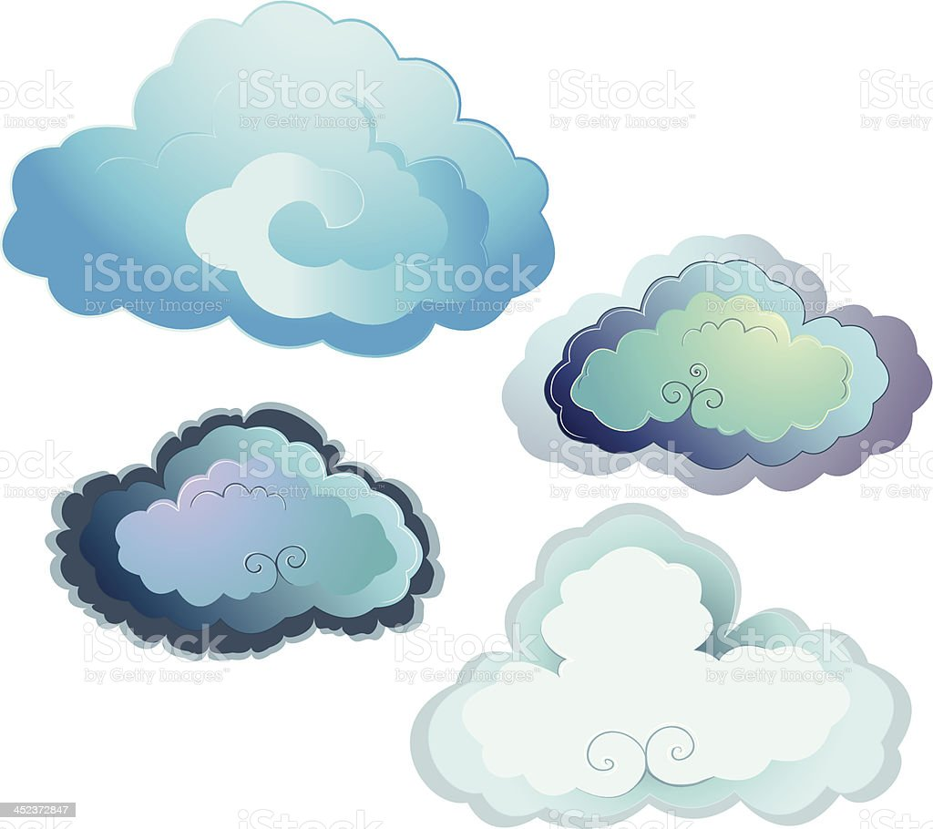 Asian clouds royalty-free stock vector art