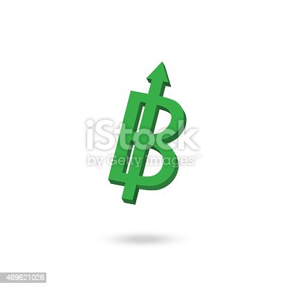 Asian Currency Symbol Strengthened Concept Design Thai Baht Stock