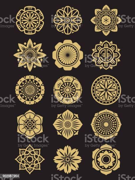 Asian flowers icons set isolated on black background chinese or vector id955987954?b=1&k=6&m=955987954&s=612x612&h=fyac nodledczi7ltwjs0tknm24bnfdp44ovw73txm0=