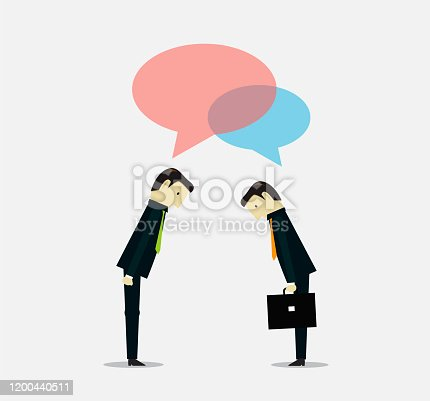 istock Asian Greeting business situation 1200440511