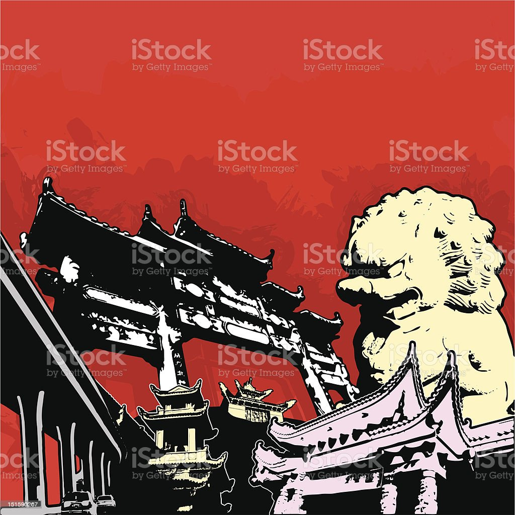 asian grunge scene royalty-free asian grunge scene stock vector art & more images of architecture