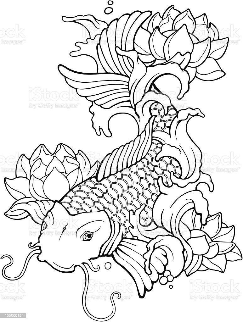 Asian koi Tattoo royalty-free asian koi tattoo stock vector art & more images of asia