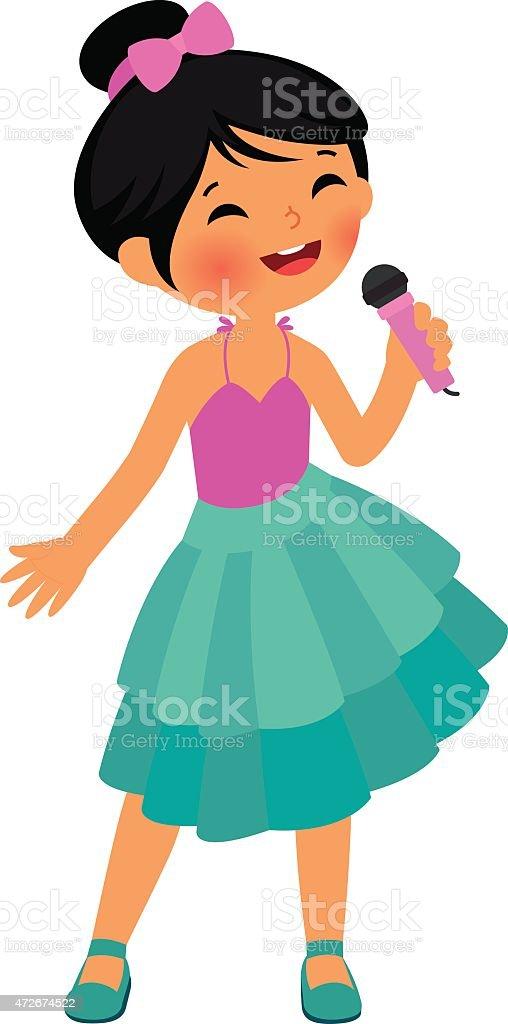 royalty free girl singing clip art vector images illustrations rh istockphoto com singing clip art singers singing clip art free