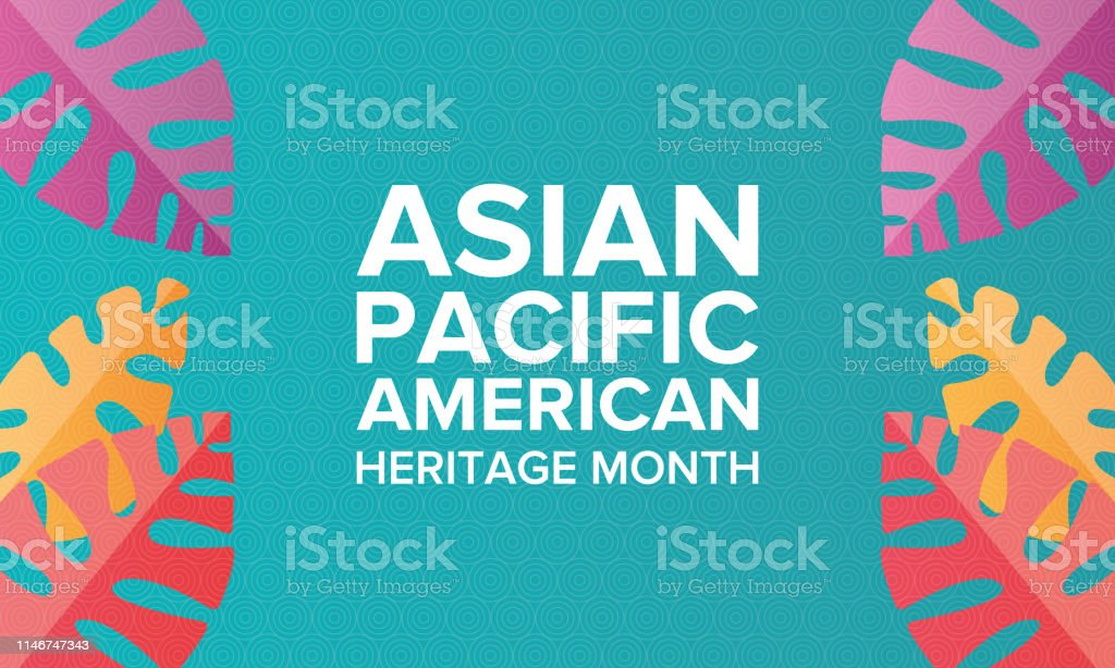 Asian Pacific American Heritage Month. Celebrated in May. It celebrates the culture, traditions, and history of Asian Americans and Pacific Islanders in the United States. Poster, card, banner and background. Vector illustration - Векторная графика Азия роялти-фри