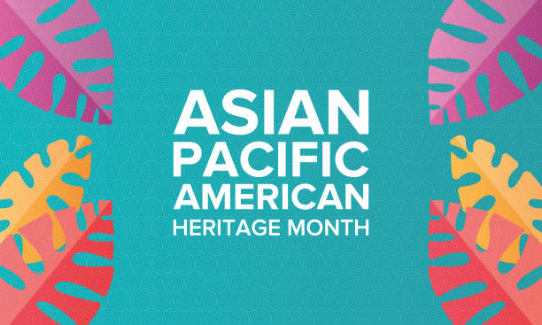 Asian Pacific American Heritage Month. Celebrated in May. It celebrates the culture, traditions, and history of Asian Americans and Pacific Islanders in the United States. Poster, card, banner and background. Vector illustration vector art illustration