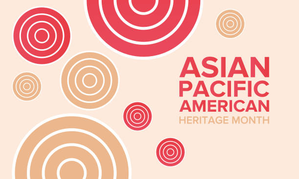 ilustrações de stock, clip art, desenhos animados e ícones de asian pacific american heritage month. celebrated in may. it celebrates the culture, traditions, and history of asian americans and pacific islanders in the united states. poster, card, banner and background. vector illustration - oceano pacífico