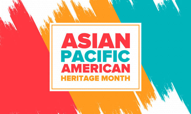 ilustrações de stock, clip art, desenhos animados e ícones de asian pacific american heritage month. celebrated in may. it celebrates the culture, traditions and history of asian americans and pacific islanders in the united states. poster, card, banner. vector - oceano pacífico