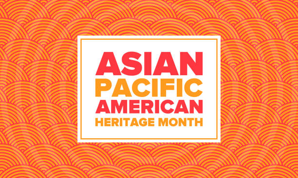 ilustrações de stock, clip art, desenhos animados e ícones de asian pacific american heritage month. celebrated in may. it celebrates the culture, traditions and history of asian americans and pacific islanders in the united states. poster, card, banner. vector - tradição