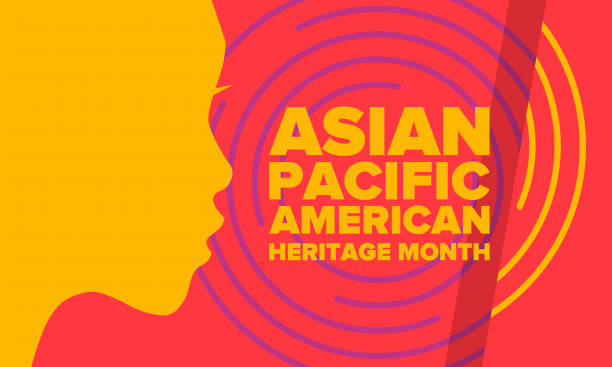 Asian Pacific American Heritage Month. Celebrated in May. It celebrates the culture, traditions and history of Asian Americans and Pacific Islanders in the United States. Poster, card, banner. Vector Asian Pacific American Heritage Month. Celebrated in May. It celebrates the culture, traditions and history of Asian Americans and Pacific Islanders in the United States. Poster, card, banner. Vector east asian ethnicity stock illustrations
