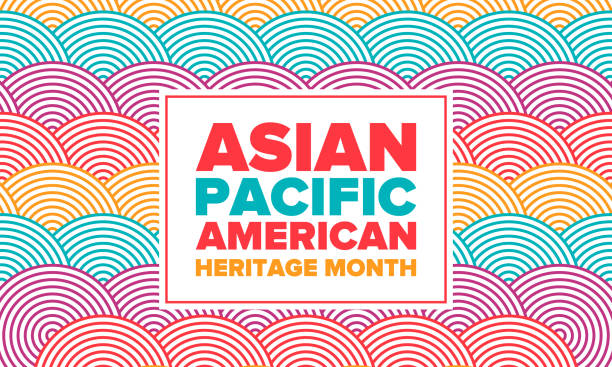 Asian Pacific American Heritage Month. Celebrated in May. It celebrates the culture, traditions and history of Asian Americans and Pacific Islanders in the United States. Poster, card, banner. Vector Asian Pacific American Heritage Month. Celebrated in May. It celebrates the culture, traditions and history of Asian Americans and Pacific Islanders in the United States. Poster, card, banner. Vector month stock illustrations