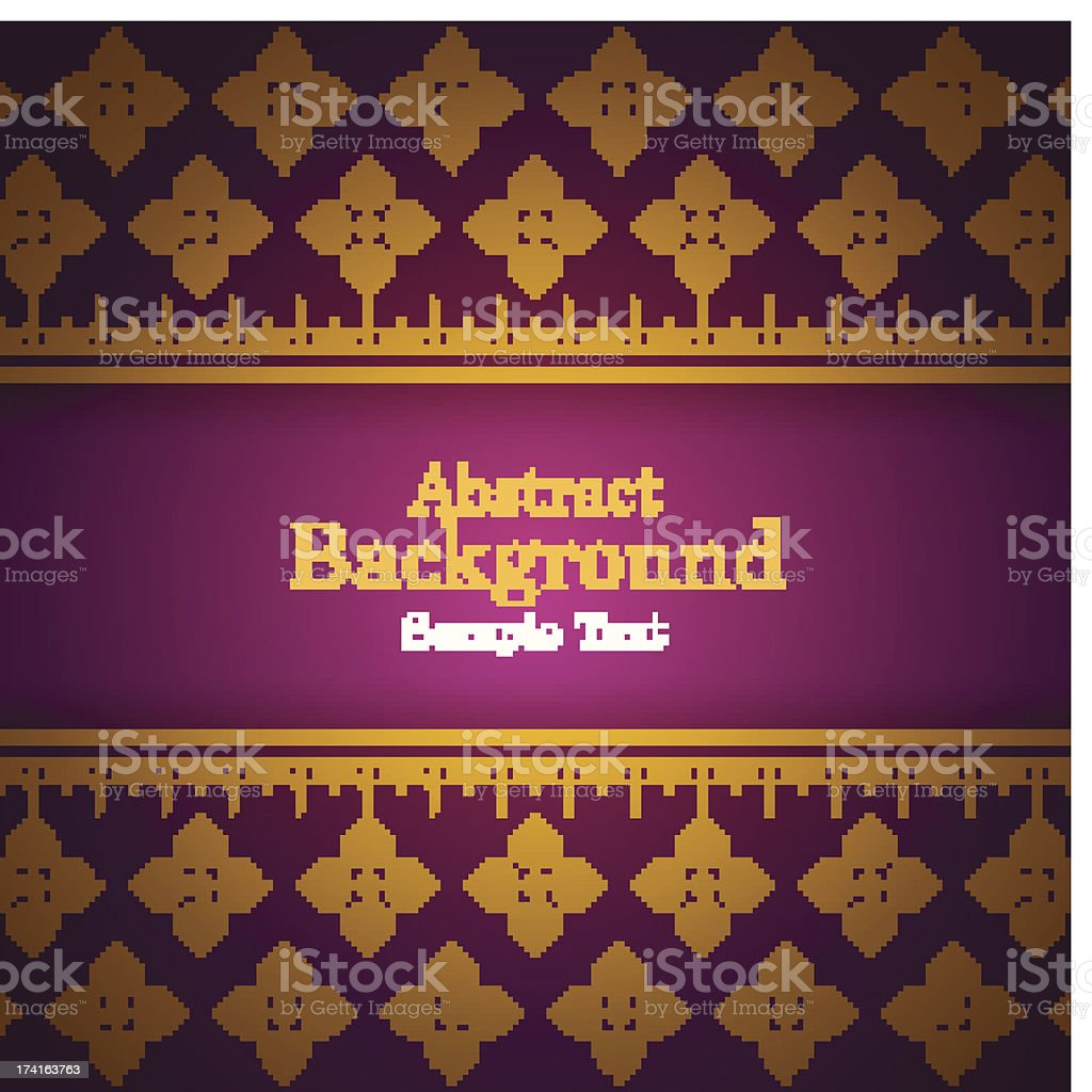 Asian style card royalty-free stock vector art