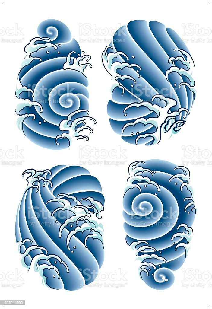 asian tattoo background vector art illustration