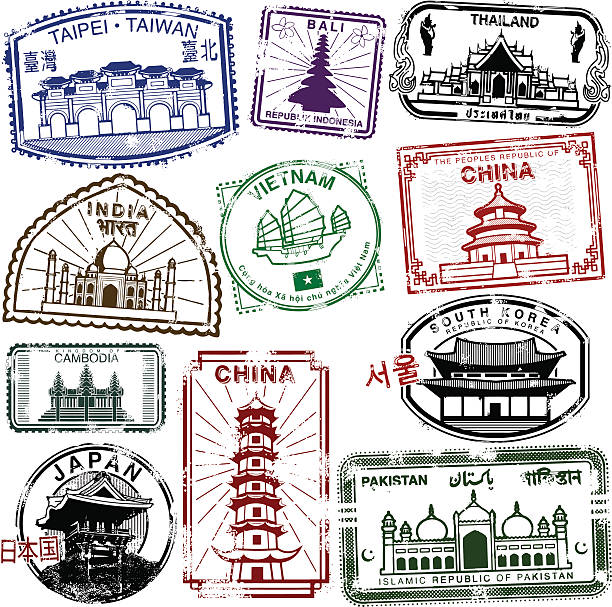 stockillustraties, clipart, cartoons en iconen met asian travel splendor - cambodja