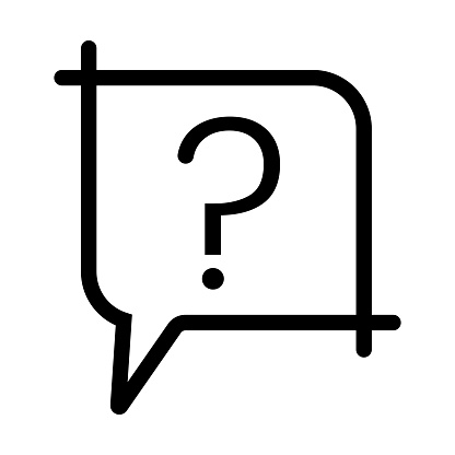 Ask a question or make a request vector flat icon on a transparent background