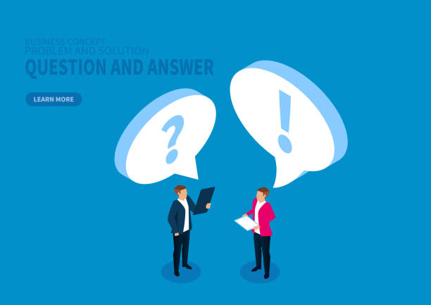 Ask and answer, ask questions and solve problems Ask and answer, ask questions and solve problems arguing stock illustrations