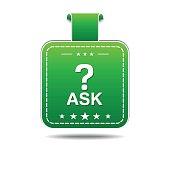 Ask Green Vector Icon Design