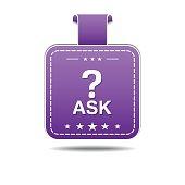 Ask Violet Vector Icon Design