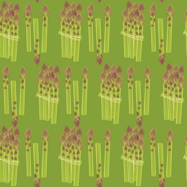 Asparagus Seamless Patten vector art illustration