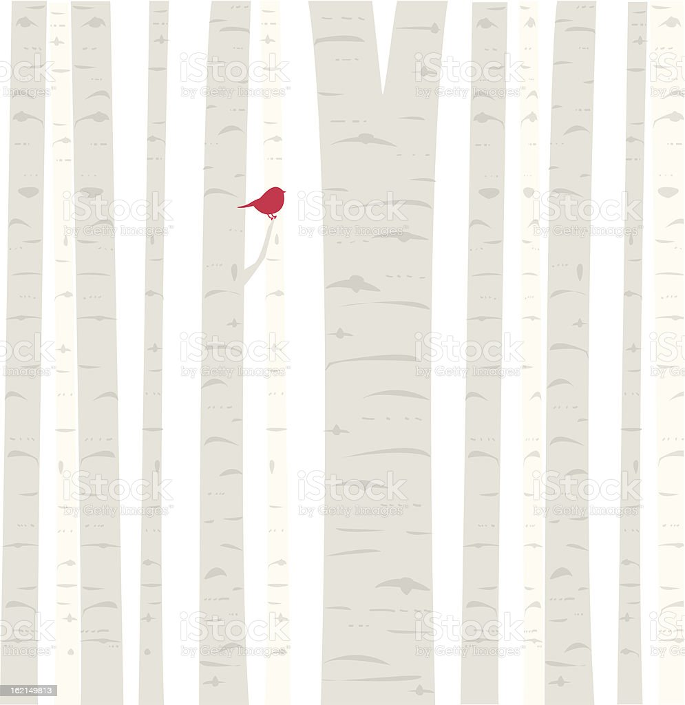 Aspen Birdie royalty-free stock vector art