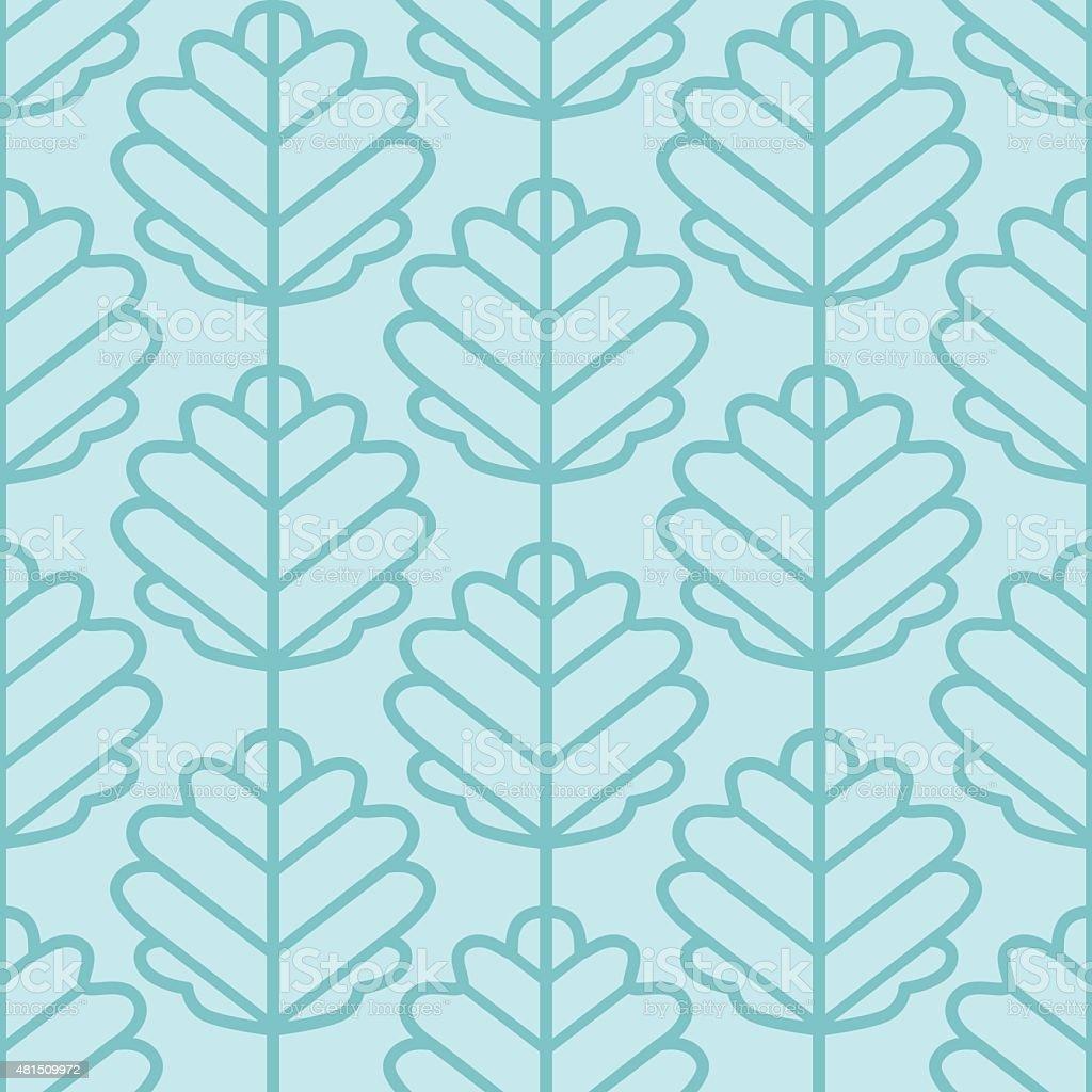 Aspen leaves seamless vector pattern (light blue). vector art illustration