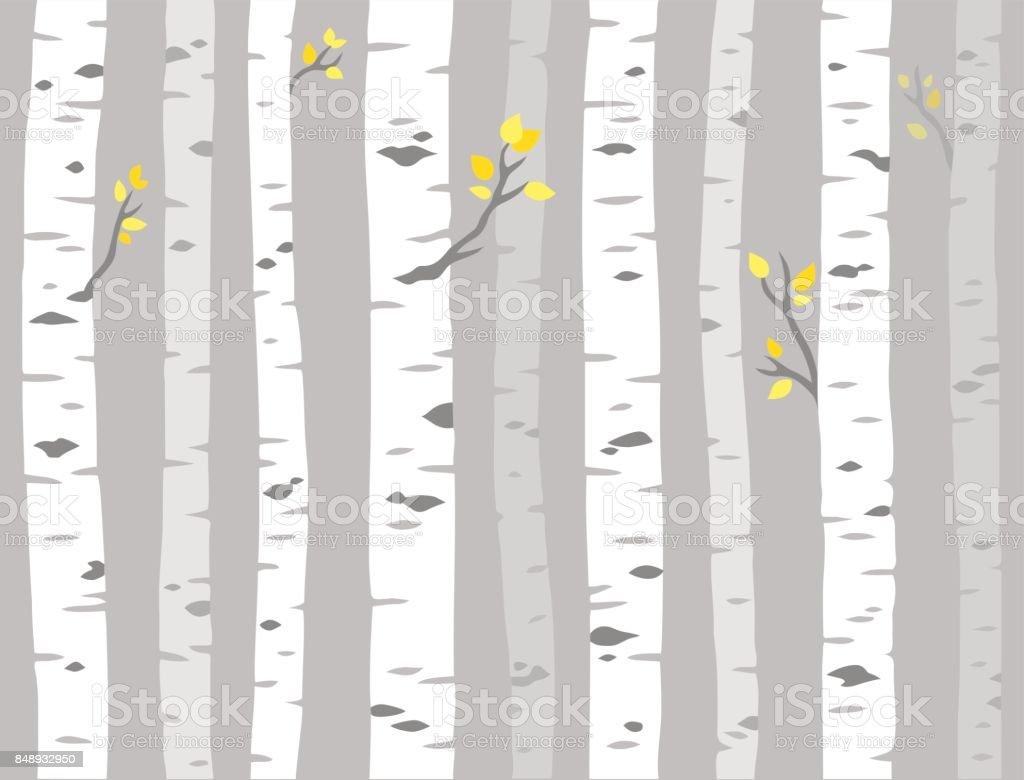 Aspen tree pattern vector art illustration