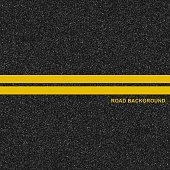 Asphalt highway road texture with marking background. Vector illustration.