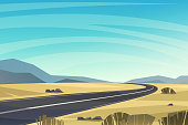 Highway flat illustration.