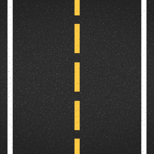 Asphalt Road Asphalt road with markings, vector eps10 illustration hyphen stock illustrations