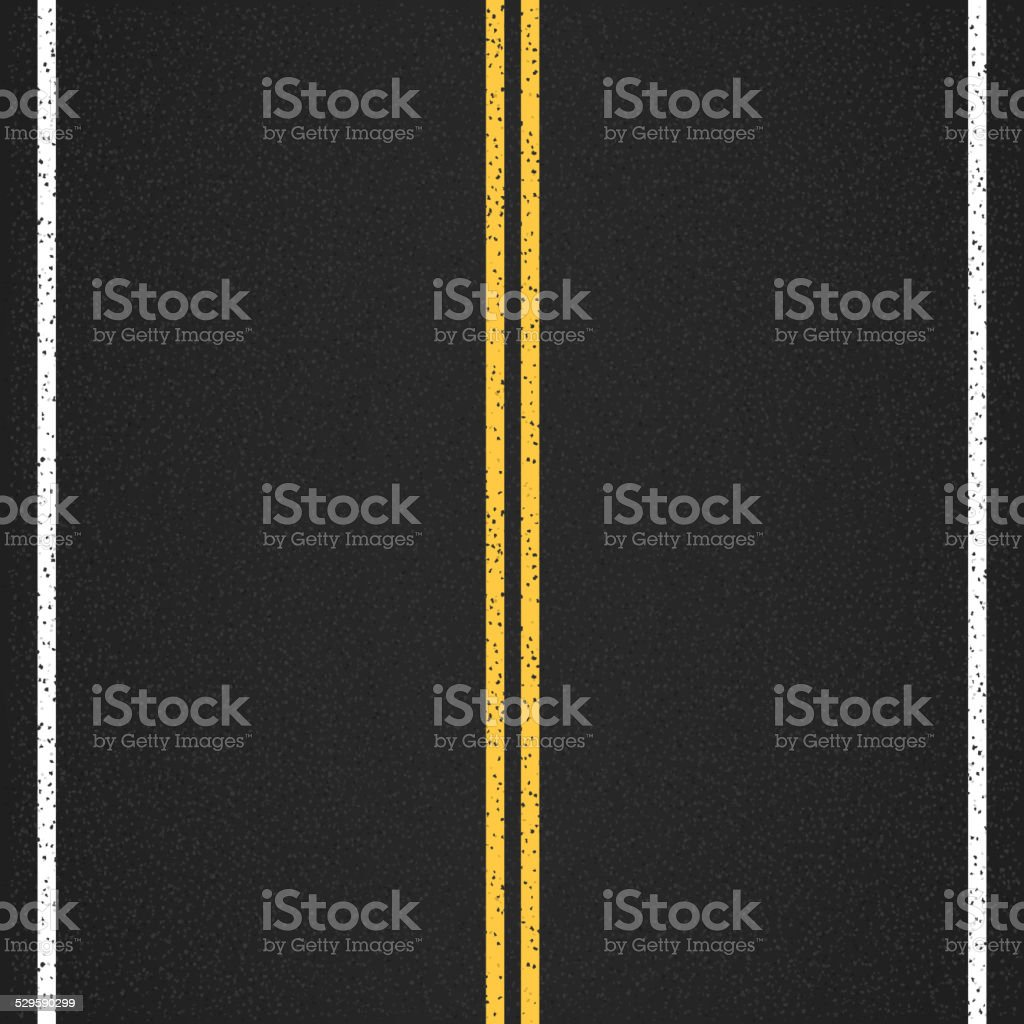 Asphalt Road vector art illustration
