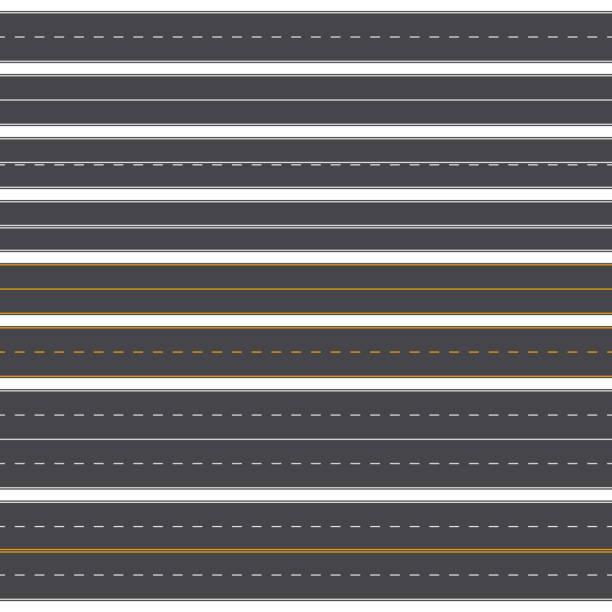 asphalt-straßen-vektor. - landstraße stock-grafiken, -clipart, -cartoons und -symbole